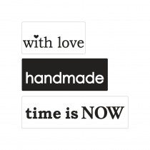 Label With Love / Handmade / Time Is Now 3 Stuks