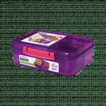 Trends Lunch Bento Lunchbox Met 4 Onderverdelingen - Yoghourtpotje 1,65l