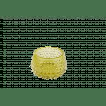 Theelichthouder Glas 6cm Geel 8,5cm Diameter Met Noppen