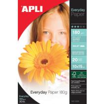 Fotopapier Apli 180G/M² A4 Glossy Inkjet 20Vellen