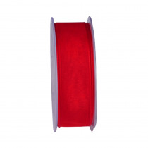 Lint Woven Edge Wired 10m x 23mm Rood