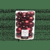 Kerstbal Ossenbloed Plastiek 30 Stuks Assortiment