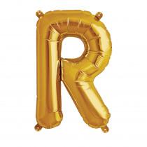 Ballon Folie 41cm Goud 'R'