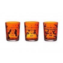 Theelichtglas 6,5cm Oranje 5,5cm Diameter 1 Stuk
