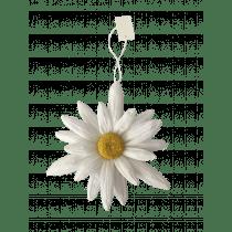 Pendentif Deco Fleur Blanc 22cm Diamètre Papier
