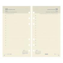 Brepols Agenda 170x95mm 6-Talig 1D/P Vulling Calendarium Ivoor Brefax