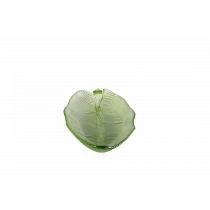 Schaal Glas In Bladvorm 32x13cm Groen