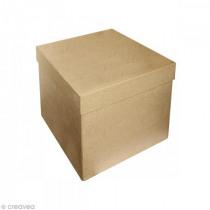 Doos Vierkant Papier-Maché 16x16x14cm