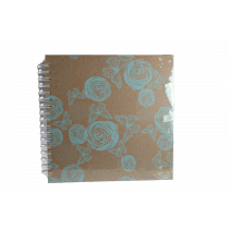 Album 24x24cm Mint Wire-O Bloem-Vlinder 20 Bladzijden