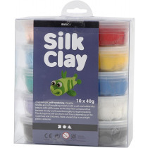 Silk Clay Basic I Assortiment 40G 10 Dozen