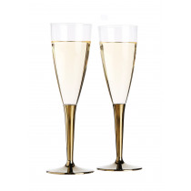 Champagneglas Mozaïk 10cl Gouden Voet 6 Stuks