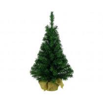 Kerstboom 60cm Groen In Jute Zak