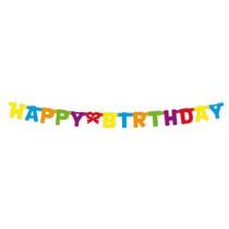 Letterslinger Karton 1,5M X 11Cm Multicolor Happy Birthday