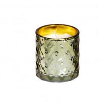Spaas Kaars In Glas 75mm Goud 70mm Diameter Textured 25uur