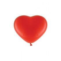 Ballon Pastel 30cm Rood Hart 10 Stuks
