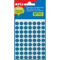 Etiketten Pochet Apli Blauw 10Mm Diam (315St) 5Vellen