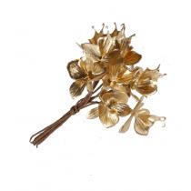 Bijsteker Bloemblaadjes 9,5cm Goud 10 Stuks