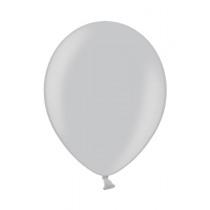 Ballon Metallic 30cm Zilver 50 Stuks