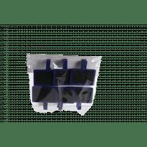 Clip Met Bordje 3x4,5cm 4,5x4,5cm Blauw 6 Stuks