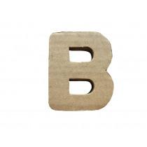 Letter B 7x8cm Papier Maché