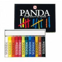 Talens Oliekrijtjes Kleuren Panda Vet 12 Stuks
