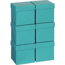 Doosje Kubus 10x10x10cm Stewo Turquoise