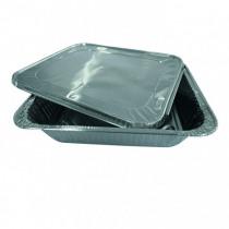 Alubak 1/1 Gastro + Deksel 497x296x38mm Platte Rand 5350cc 10 Stuks