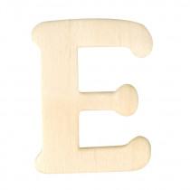 Houten Letter E 4cm