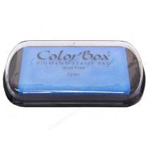 Inktkussen Colorbox Cyaan 63x100mm