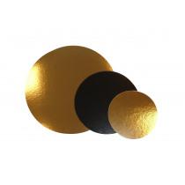 Rondellen Goud/Zwart 30cm Diameter Karton 20 Stuks