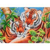 Diamond Dotz Diamond Dotz Tender Tigers 60x45cm