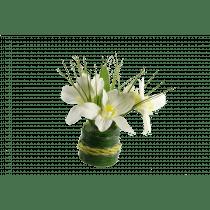 Boeket Bloemen 15cm Wit