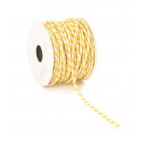 Lint Paper Twist 10m 4mm Diameter Wit/Geel