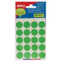 Etiketten Pochet Apli Groen 19Mm Diam (100St) 5Vellen