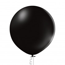 Ballon Metallic Uni 60cm Zwart