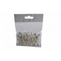 Strooigoed Hartjes 1,2Cm Wit 48Stuks