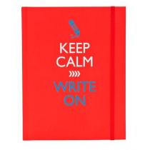 Schrift A5 Keep Calm Met Elastiek