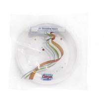 Bord Plastic Wit 15cm  Diameter Ps Retail 20 Stuks