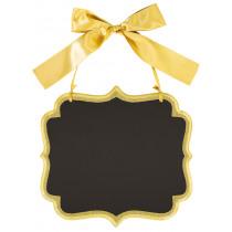 Krijtbord 25x23cm Goud Glitter