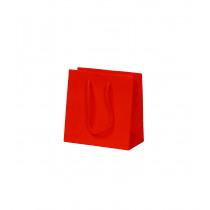 Draagtas Papier Rood 157G/M² 16+8x16cm Glanzend