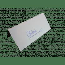 Naamkaartje 9X9,5Cm Wit + Plooilijn 100 Stuks