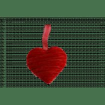 Coeur Pendentif 18x7x18cm Rouge Velours