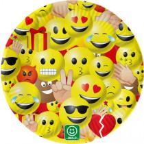 Bordjes 23cm Emoji 10 Stuks
