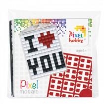Pixelhobby Sleutelhanger Pixel I LOVE YOU
