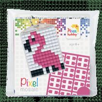 Pixelhobby Sleutelhanger Pixel Flamingo
