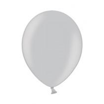 Ballon Metallic 12cm Zilver 25 Stuks