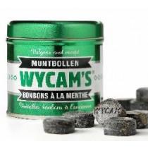 Blikje Bonbons 59mm Wycam's groen 71mm Diameter Mint Drops