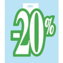 Affiche Karton 20x24cm 20%