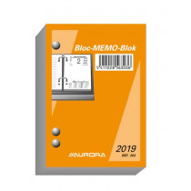 Agenda 4T 1D/P 8,4X12Cm Aurora Memoblok