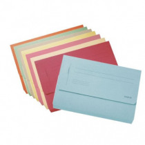 Pocket File Karton Folio Blauw
